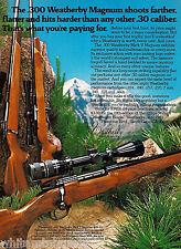 1979 WEATHERBY 300 Mark V~Vanguard~Mark XXII RIFLE AD