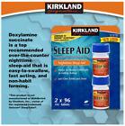 Kirkland Signature Sleep Aid Sleeping Pills, 2 x 96 Tablets, Bottle Easy Grip