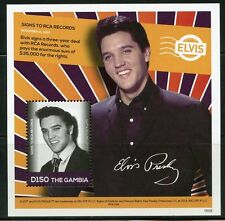 THE GAMBIA 2016  ELVIS PRESLEY SIGNS TO RCA RECORDS  S/S MINT NH