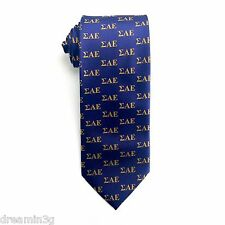 Sigma Alpha Epsilon SAE Letter Design Tie - Brand New Product!