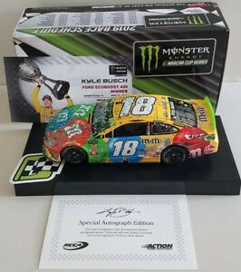 KYLE BUSCH 2019 M&M'S HOMESTEAD PLAYOFF WIN AUTOGRAPHED ARC 1/24
