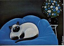 POSTCARD CARTE POSTALE ILLUSTRATEUR C. CIPRIANO / LE SIAMOIS / CAT CHAT