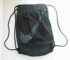 NIKE Black Drawstring Kit bag Sports Gym Boot Bag
