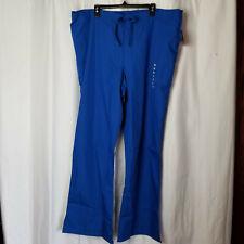 New listing New Size 2Xl Tall Cherokee Workwear Women's Royal Blue Flare Scrub Pants 4101T
