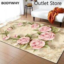 3D Flowers Anti-slip Area Flannel Carpets Floor Baby Crawling Rugs Mat Carpet