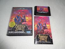 Phantasy Star II 2 Mega Drive juego con embalaje original y guía