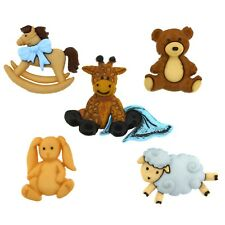 Childrens Buttons - Adventure Awaits Teddy - Novelty Buttons Cake Decorations