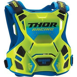 Youth Sizes Thor Guardian MX Flo Green Chest Protector for Motocross Offroad