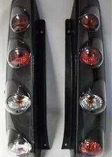 FORD FIESTA MK6 2002-10/2005 3 porte nero Lexus Posteriore Coda Luci Lampade 1 Paio