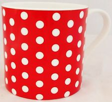 Red Dots Mug Fine Bone China Large Capacity Balmoral Red Mug Hand Decorated UK