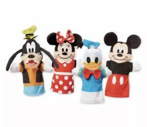 Melissa & Doug Disney Baby Hand Puppets Mickey Minnie Mouse Goofy Donald Lot o 4