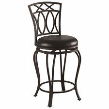Black Metal Swivel Counter Height Stool Chair by Coaster 122059