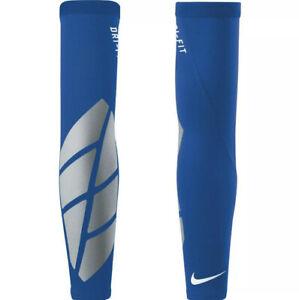 New Men's Nike Pro Vapor Forearm Slider 2.0 Sleeve Football S/M Royal Blue