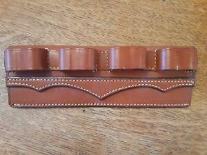 Shotgun shell holder leather