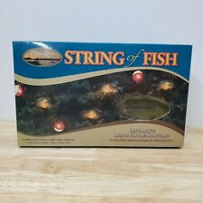 Duane Raver String Of Fish Lights 5 Bass/5 Bobber Indoor/Outdoor Christmas X-mas