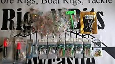 Sea fishing Rigs x 35 - Spinners - Float kit -Sinkers - Feathers - High quality