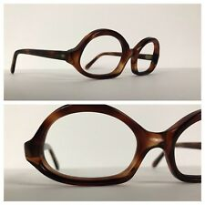 Vintage NOS Deadstock 1960s Dark Brown Tortoise Oval Director Eyeglasses M