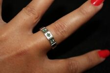 Sterling Silver and Emerald Ring
