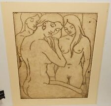 "ROSE CLARK ""THE GIRLS"" LIMITED EDITION HAND SIGNED NUDE ETCHING"