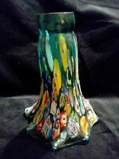 Murano Millefiori Blown Glass Lamp Light Fitter Shade Lily, Trumpet Shaped 6""