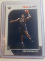 2019-20 Zion Williamson #258 & Ja Morant #297 NBA Hoops Rookie Card Lot. Invest