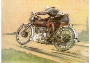 1946 Vincent Series B 'Racing' Rapide poster