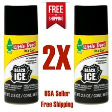 Little Trees In Can Air Freshener Black Ice Scent Car Home & Office Spray