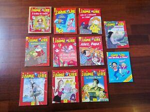 J'aime lire - 11 volumi - libri per bambini in francese. LEGGERE DESCRIZIONE