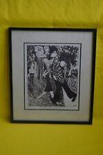 """Gravure """"Dancing in the memories garden"""" Chava Epstein 1975 numérotée 2/25"""