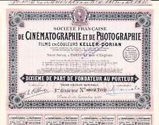 Société Francaise de Cinématographie et de Photographie Films Keller-Dorian-1928
