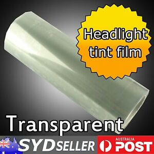 4pcs Car Clear Transparent Headlight Tint Film Tail Fog Lamp Protector 30 x 40cm