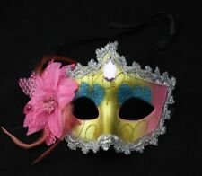 feather Mask Venetian Masquerade Halloween Party Opera Fancy Dress Mask 001