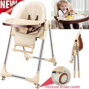 Foldable Baby Highchair/Toddler High Chair Adjustable Recline Feeding Seat Table