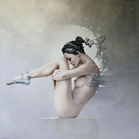 Surrealism Lady Nude oil painting Canvas Giclee Art Print for living room L882