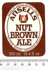 Vintage UK Beer Label - Ansells Brewery - Birmingham - Nut Brown Ale
