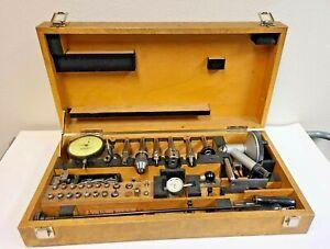 HAUSER BIENNE SWITZERLAND 3BA Jig Borer Tooling Set Boring Bars Collets Wood Box