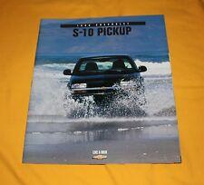 Chevrolet S-10 Pickup 1998 USA Prospekt Brochure Depliant Prospetto Catalog