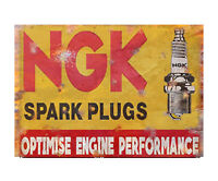 NGK Spark Plugs Vintage Advertising  Sign Garage Shed Plaque Classic Car Engine