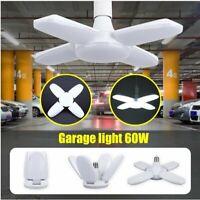 20000LM 60W E27 LED Garage Light Ceiling Adjustable Deformable Shop Work Lamp