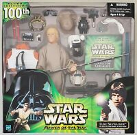 """STAR WARS POWER OF THE JEDI LUKE SKYWALKER ACTION COLLECTION 100TH 12"""" FIGURE"""