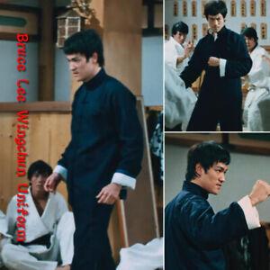 3PCS Bruce Lee Kung Fu Martial Arts Uniform Wing Chun Suit Outfit Tang Suit Mens