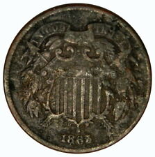 1865 TWO CENT ~ BOLD DATE POROUS FINE DETAILS ~ PRICED RIGHT! (INV#8)