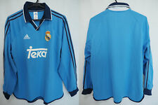 1999-2000-2001 Real Madrid Player Equipment Jersey Shirt Camiseta Third L/S L