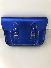 The Cambridge Satchel Company Metallics blu Flap Snap Closure Cross Body Handbag