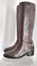 Cole Haan Adler Tall Leather Boot charcoal Pull ON SZ 7 NEW $378 D40521