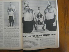 1961  Boxing  Illust./Wrestling (YVON  DURETTE/PRIMO  CARNERO/THE  VON  BRAUNERS