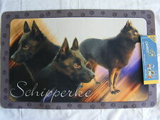 Tapis déco - chien  SCHIPPERKE