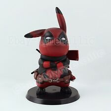 Pokemon Cosplay Pikachu Cos Super Hero Red Deadpool 9cm PVC Figure NO Box