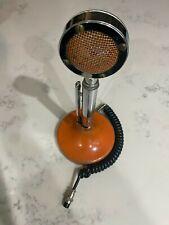 Vintage 1960s ASTATIC Mod Orange Push To TalkMicrophone - Collector's Item