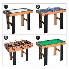 HOMCOM Mesa Multijuegos 4 en 1 Futbolín+Air Hockey+Ping-Pong+Billar 87x43x73cm